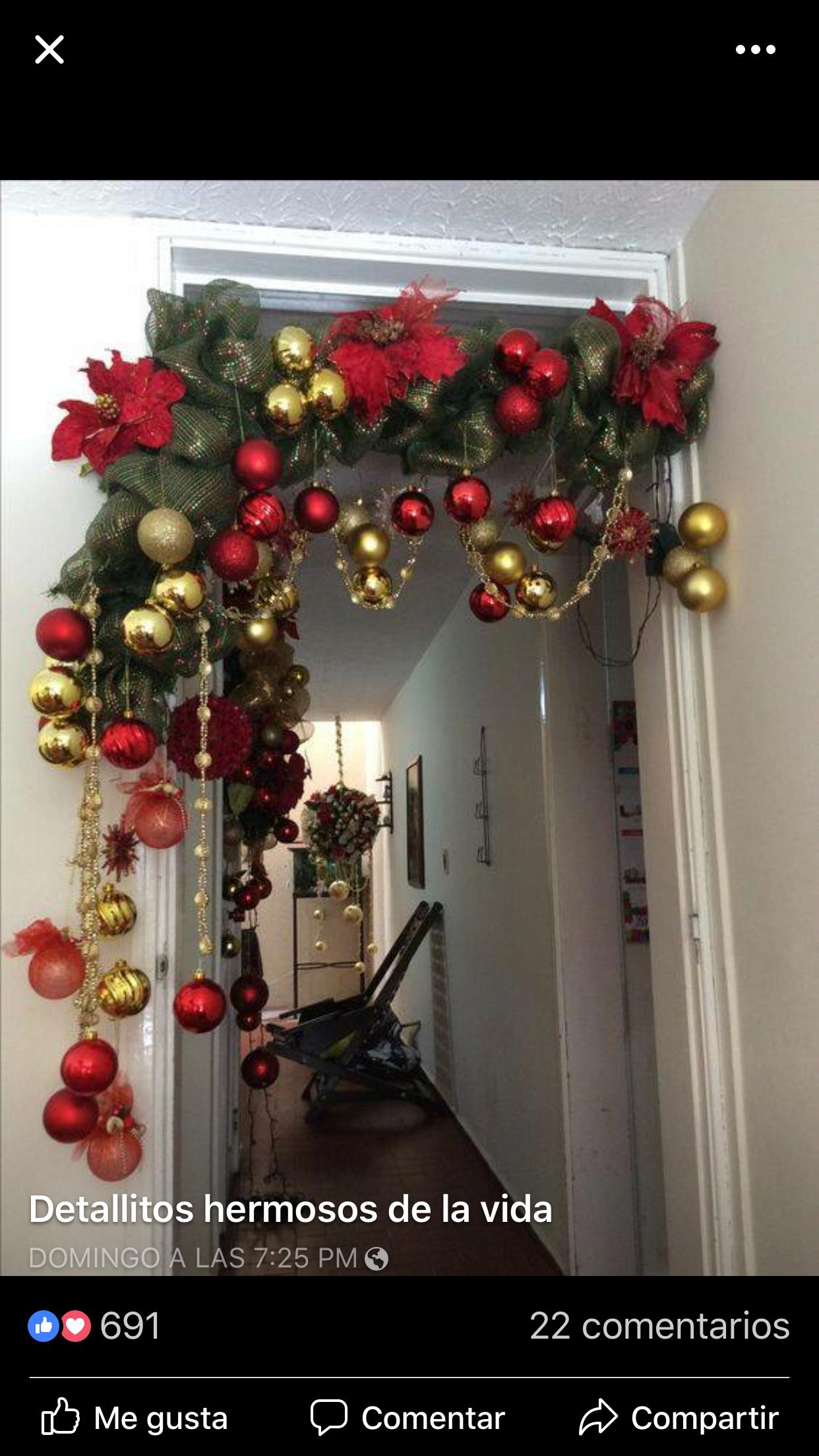 Navidad navidad guirnaldas navide as decoraci n de for Guirnaldas navidenas para puertas y ventanas