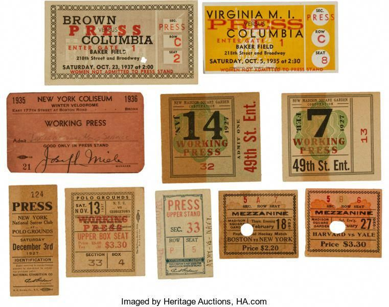 Baseball CollectiblesOthers, 1920's1930's Ticket and