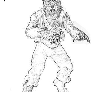 Werewolf Terrifying Werewolf Coloring Page Terrifying Werewolf