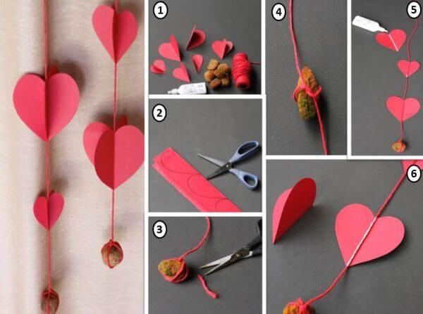 Passo a passo de como fazer cortina de coração Foto de Ágata Convites #cortinas #cortinadecoração