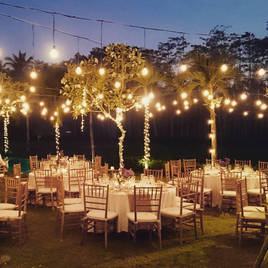 Fairy Lights Wedding Reception Ideas: Light Bulbs + Fairy Lights + Warm Ambience Light