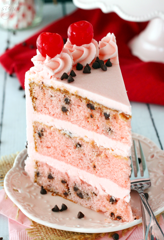 Cherry Chocolate Chip Cake Recipe Maraschino Cherries Mini Chips And
