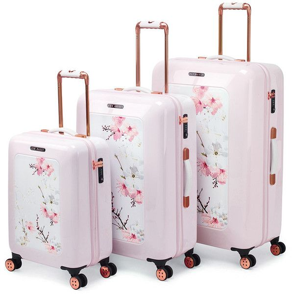 d340a7d85 Ted Baker Oriental Blossom Suitcase - Small ($295) ❤ liked on Polyvore  featuring bags and luggage