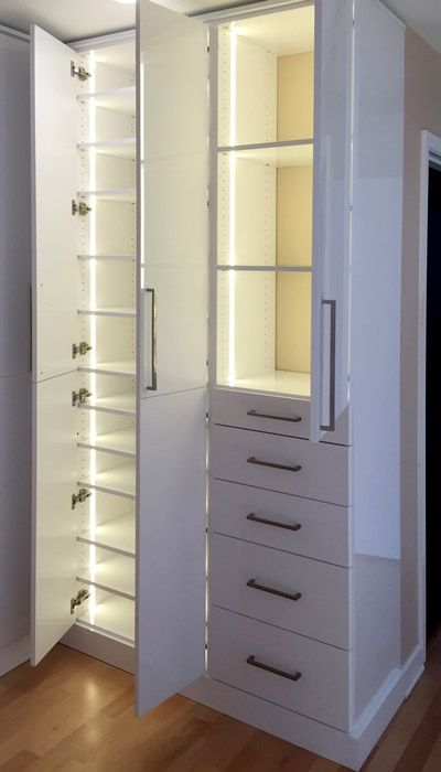 closet lighting solutions. Plain Solutions Master Closet With LED Closet Light System Using Warm White LEDs In Lighting Solutions E