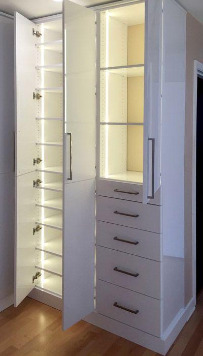 Master Closet With Led Closet Light System Using Warm White Leds