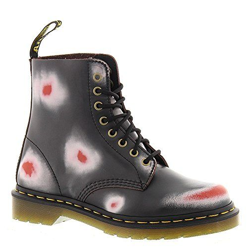 Dr Martens Mens Navy White Red Boot Boots Pascal 8 Eye Rub Off