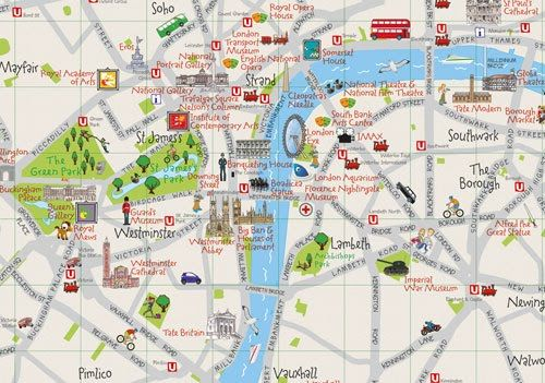 london attractions map collins childrens london map