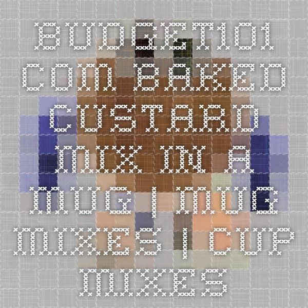 Budget101.com - - Baked Custard Mix in a Mug | Mug Mixes | Cup Mixes | Single Serving Mixes
