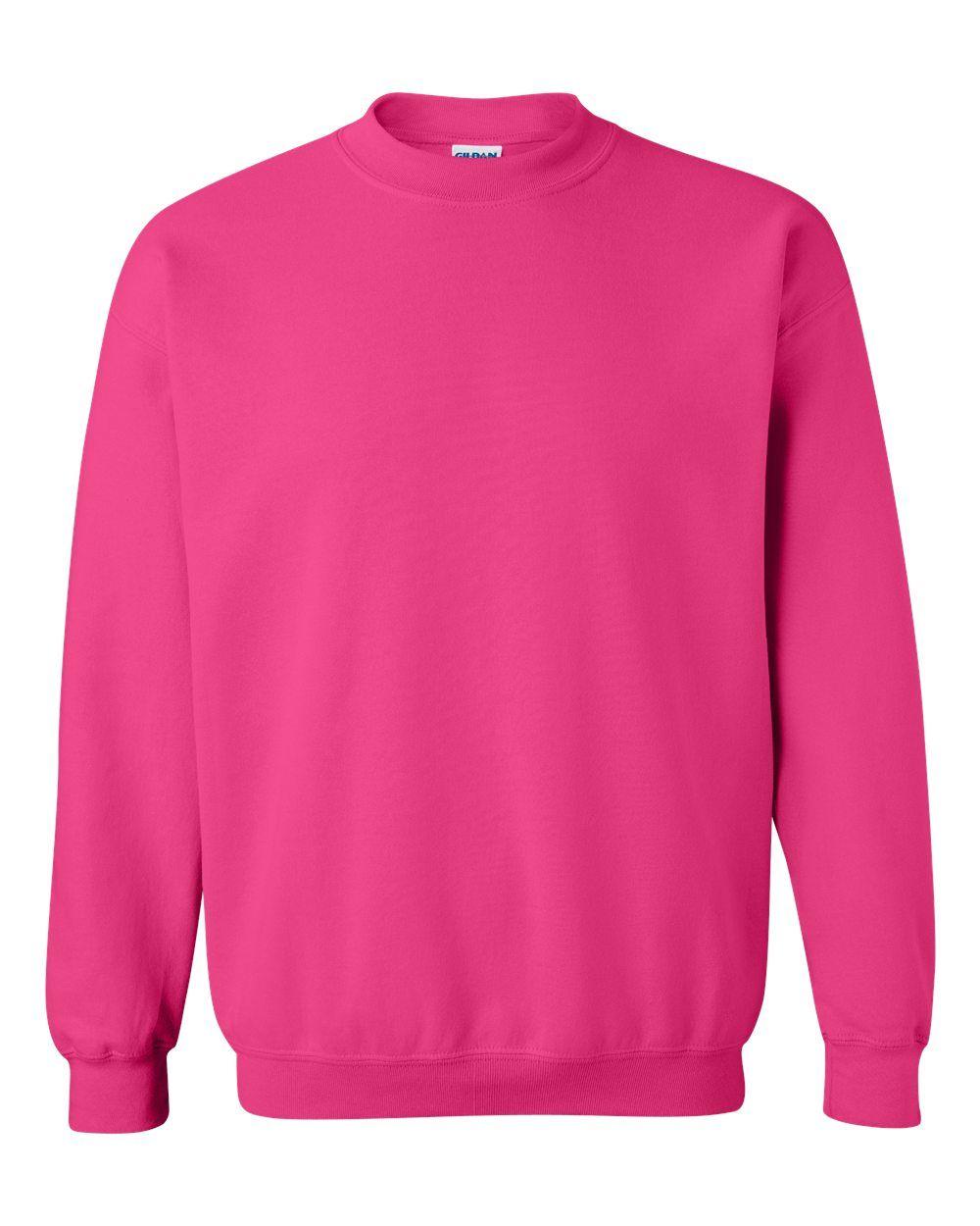 Gildan Heavy Blend Crewneck Sweatshirt 18000 Heliconia X Large Gildan Sweatshirts Sweatshirts Crew Neck Sweatshirt [ 1250 x 1000 Pixel ]