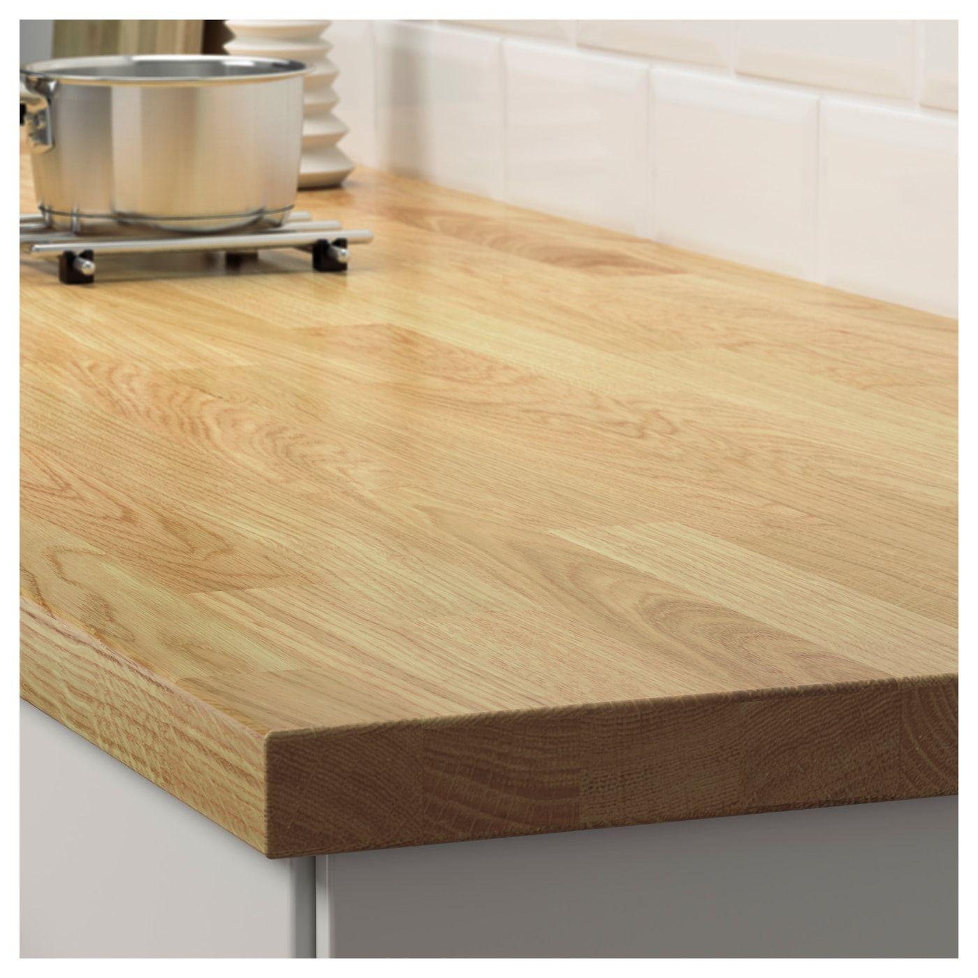 Karlby Arbeitsplatte Eiche Furnier Ikea Deutschland Karlby Countertop Countertops Wood Countertops