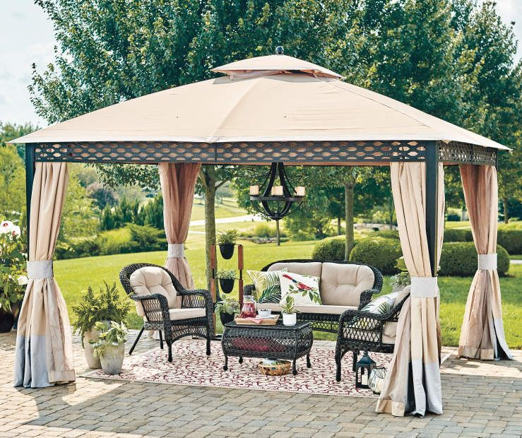 Wilson Fisher Oakmont Domed Gazebo 10 X 12 Big Lots Patio Gazebo Backyard Gazebo