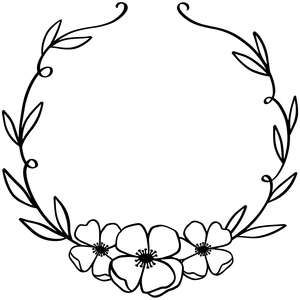 Silhouette Design Store: Flower Wreath