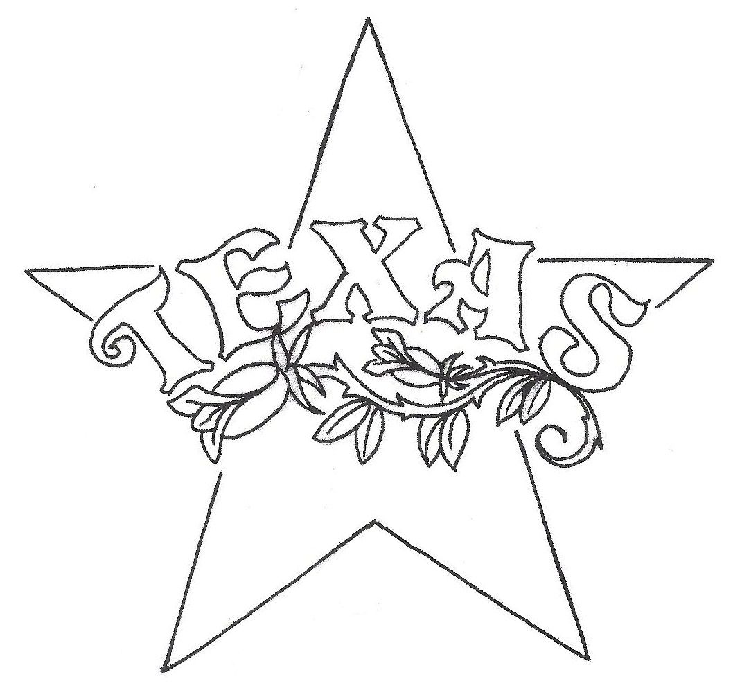 Texas Flag Printable Coloring Pages