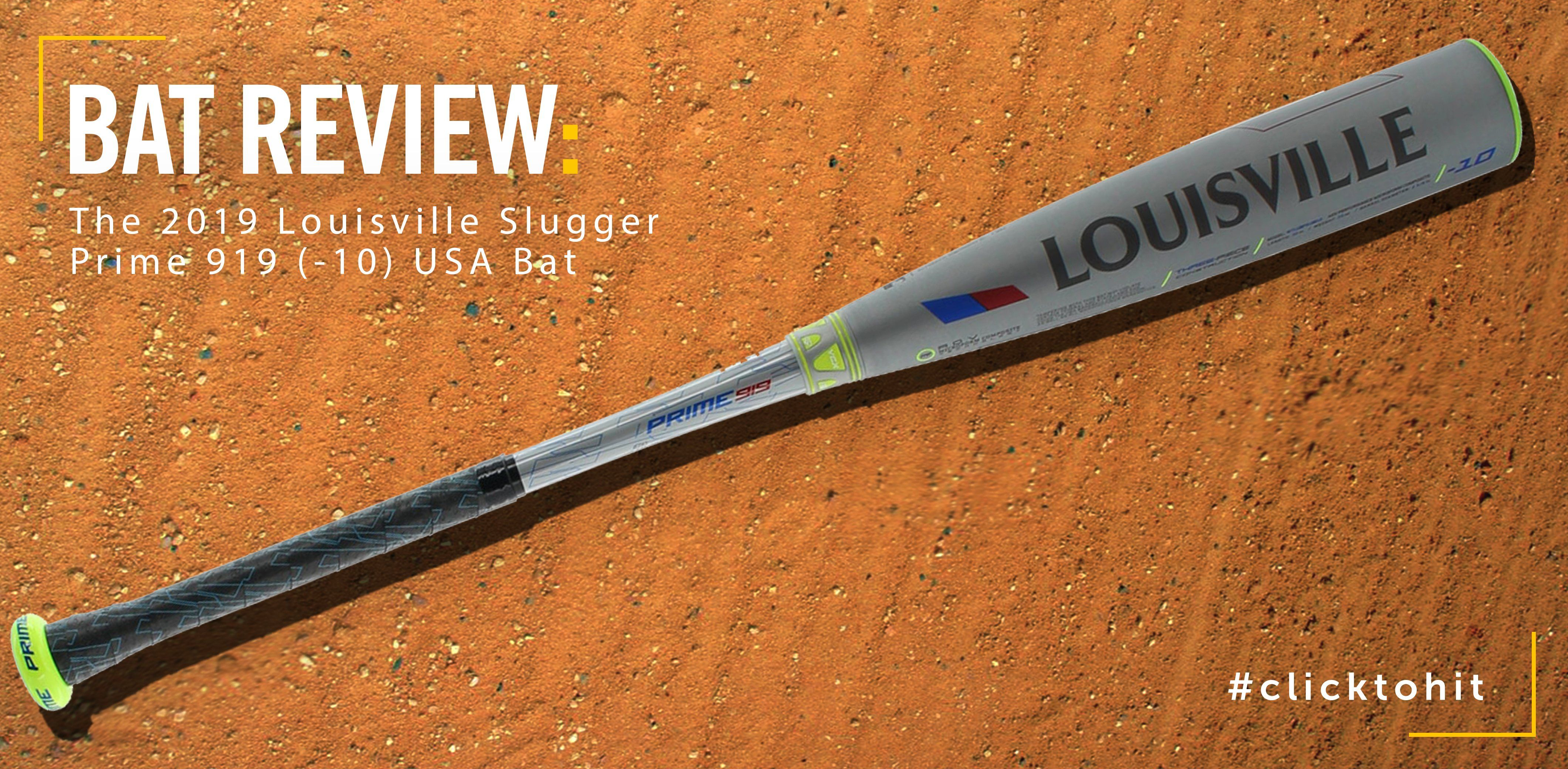 Bat Review: 2019 Louisville Slugger Prime 919 (-10) USA Bat