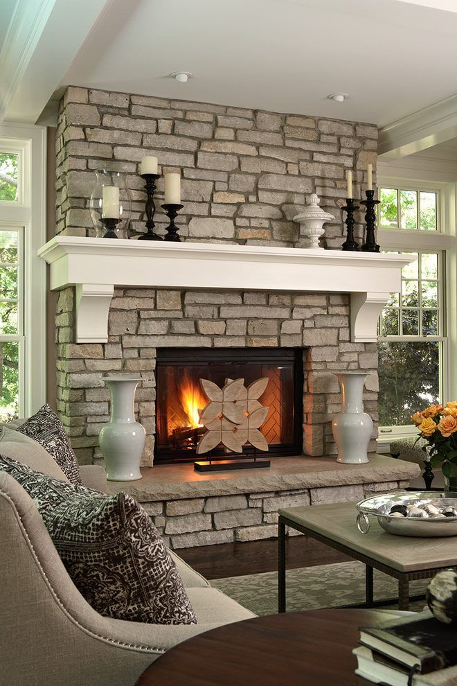 Corner Fireplace Mantels Living Room Traditional With
