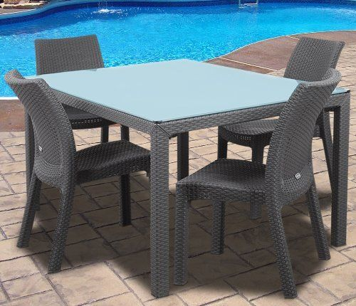 Atlantic Corfu 5 Piece Gray Rectangular Outdoor Dining Set By