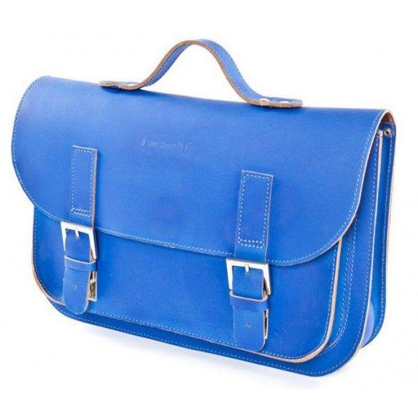 9582ea9d813 Own Stuff lederen schoudertas kobalt blauw   In zak en tas   Lederen ...