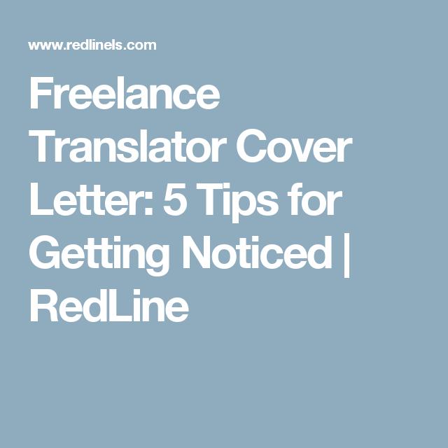 Freelance Translator Cover Letter: 5 Tips for Getting Noticed ...