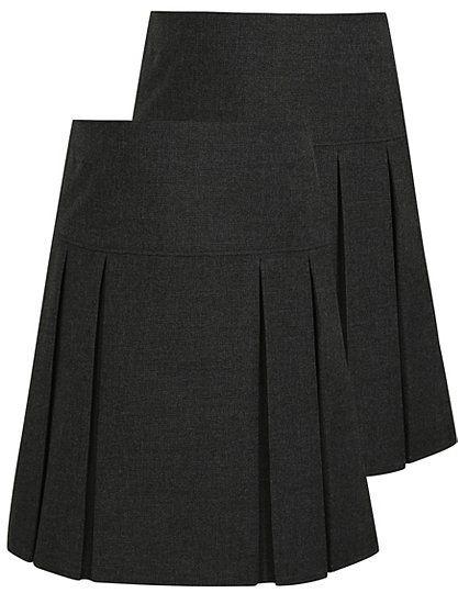 7e2bf15ed5 2 Pack Girls School Pleated Skirt ASDA £7 | Szoknyák | Skirts ...