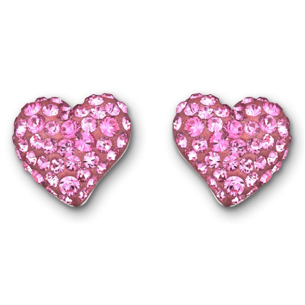 Swarovski Heart Earrings - Beaverbrooks the Jewellers | Swarovski ...
