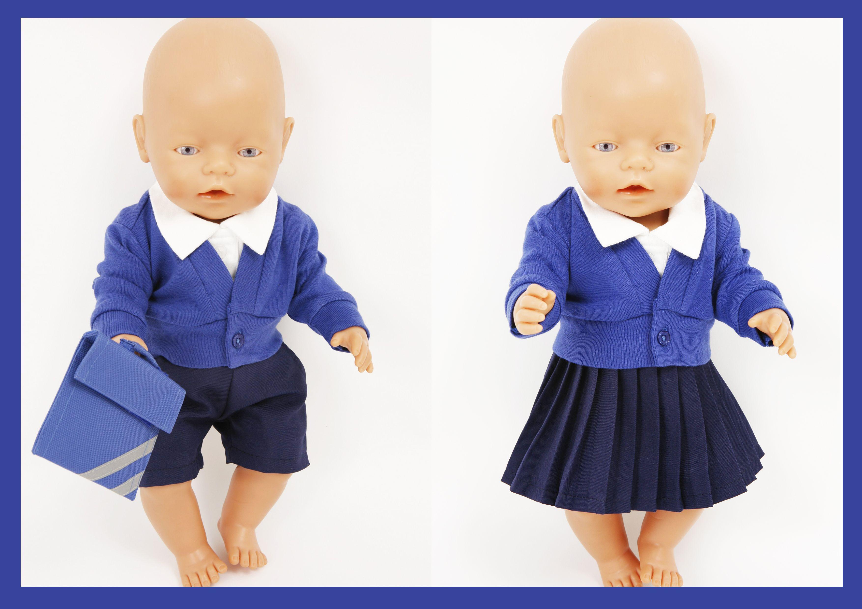 Twin Doll school uniform for Baby Born and Boy Baby Born