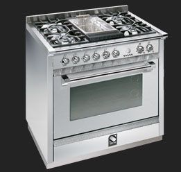 Steel Cucine Stile In Cucina Freestanding Cooker Grill Plate Stove