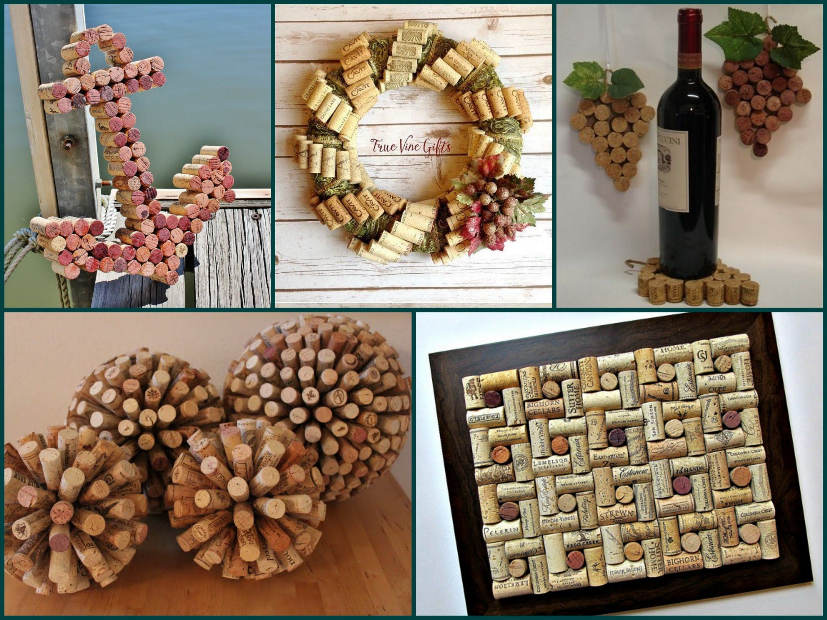 recycling ideas for home how to use wine corks: - handmade 3d