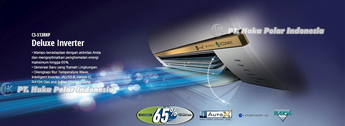 Jual AC Panasonic CS S13RKP 1 2 PK Split Wall Mounted Inverter Deluxe