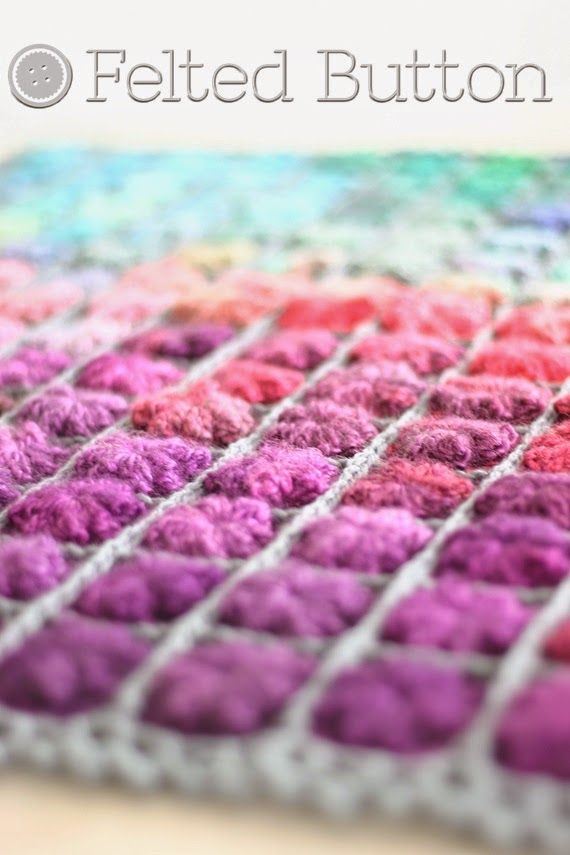 Felted Button - Colorful Crochet Patterns: 2014 -- Colorful Crochet Patterns