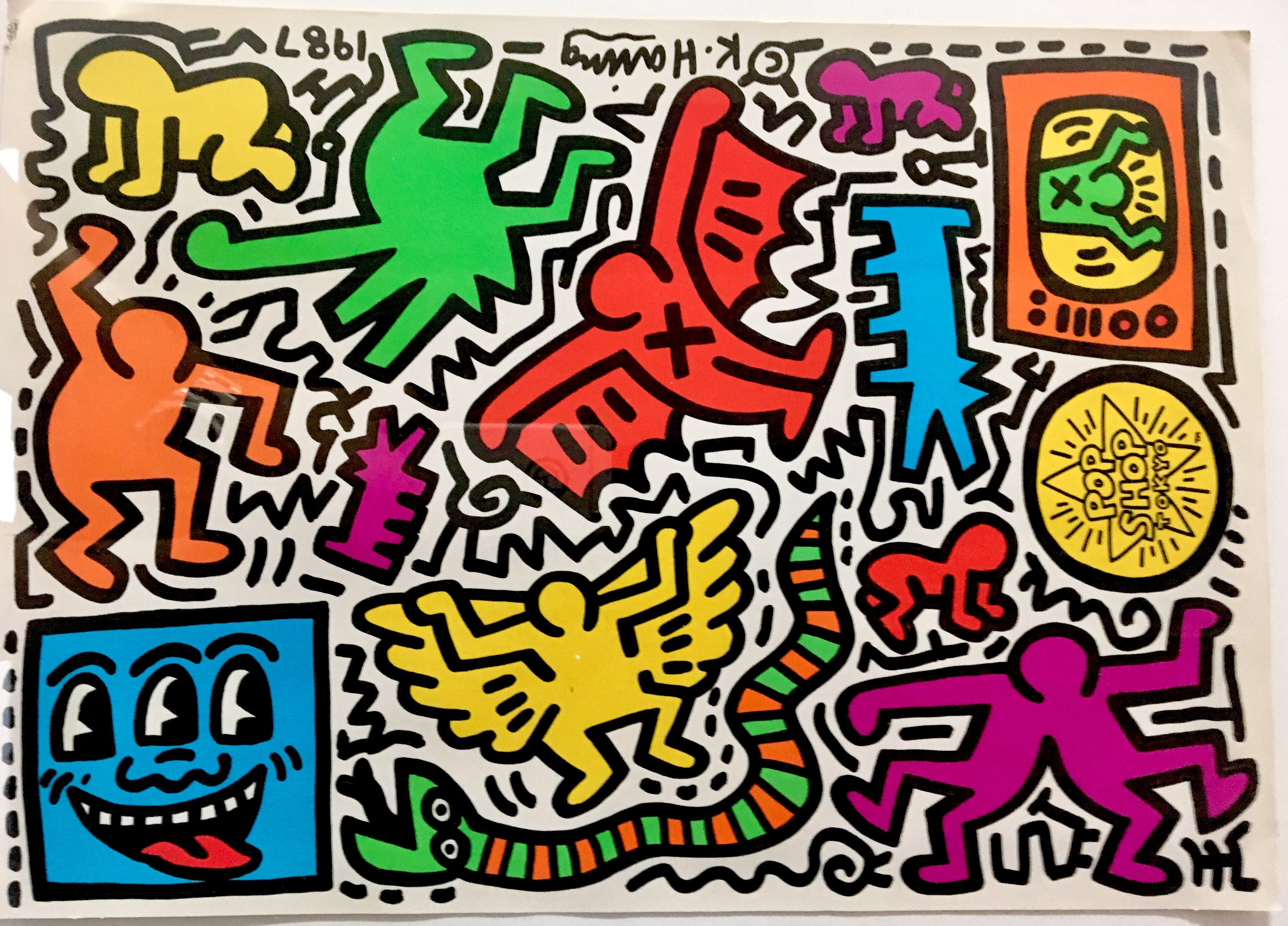 Keith Haring Framed Pop Shop Tokyo Sticker Sheet