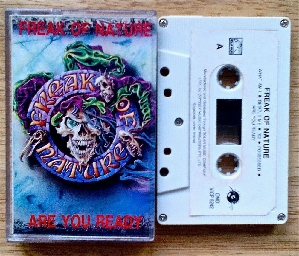 FREAK OF NATURE - ARE YOU READY:HEAVY METAL 1993 / THAI CASSETTE  **RARE ALBUM** #GlamHairMetal