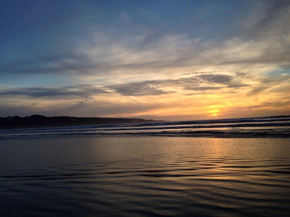 Ninety Mile Beach in Ahipara, Northland