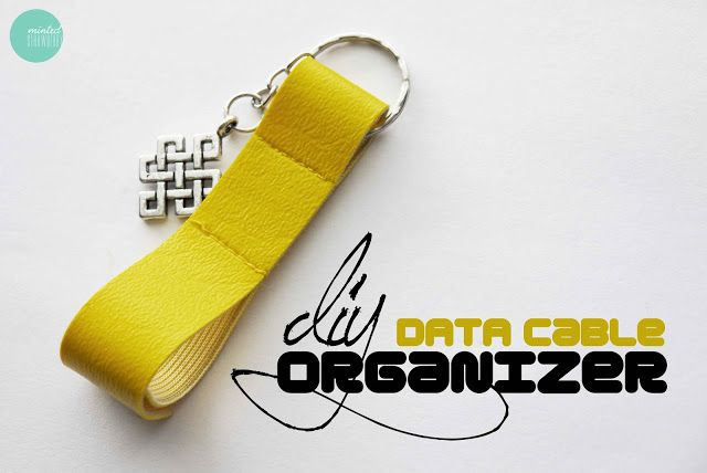DIY cable de datos del organizador @ mintedstrawberry.blogspot.com