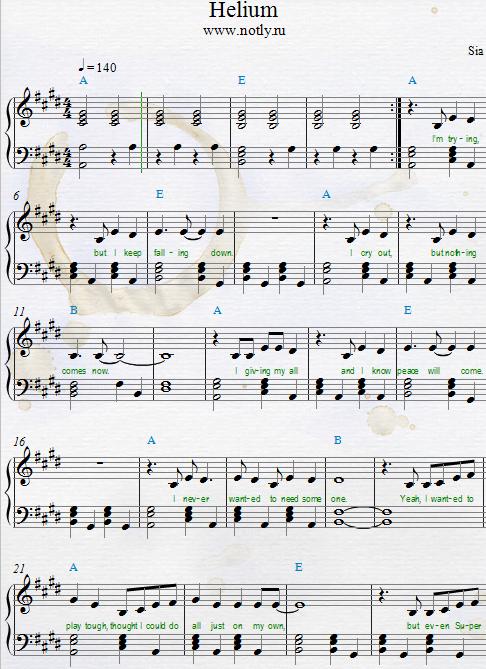 Sia helium download pdf piano sheet music from fifty - Living room tegan and sara lyrics ...