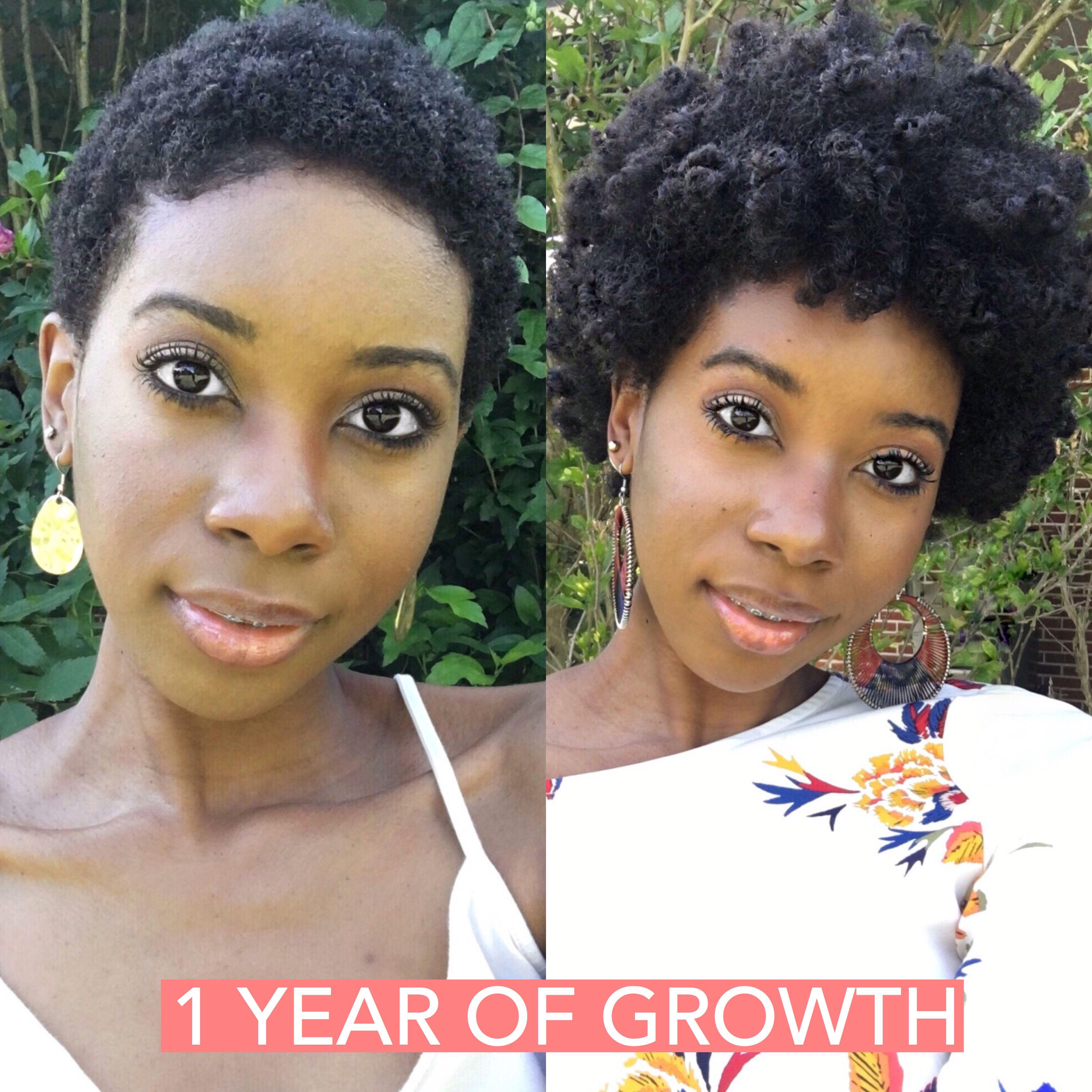 1 Year Of Growth Naturalhairjourney 4cnaturalhair Instagram Brittanywebb Healthy Hair Journey Short Natural Hair Styles Big Chop