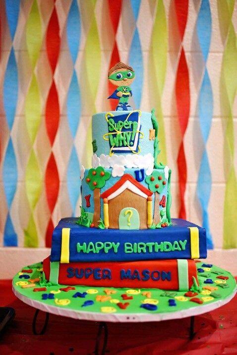 Super Why Birthday Cake By Shandi Cakes Masons Super Why Birthday