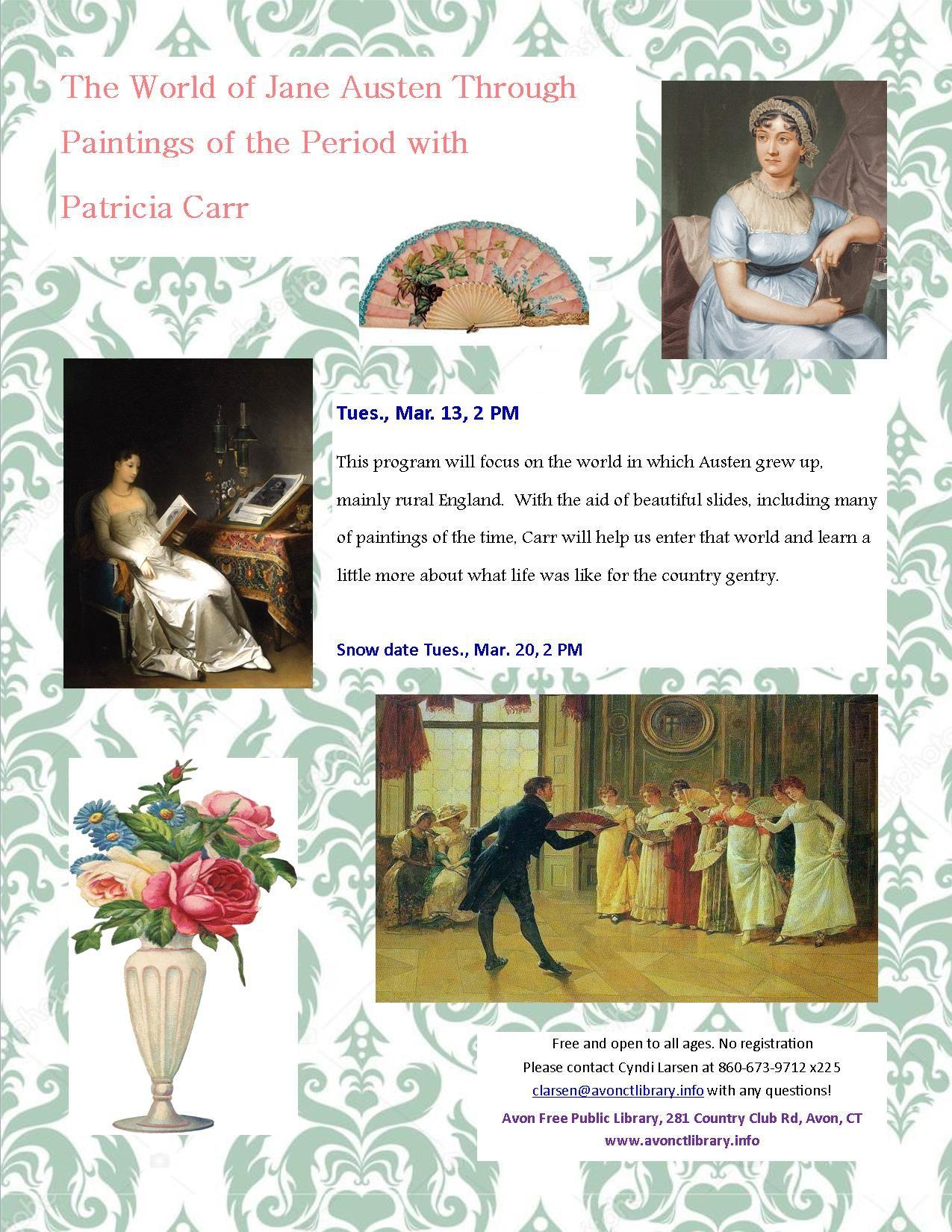 The World Of Jane Austen Through Art Of The Era With Patricia Carr Jane Austen Exhibition World