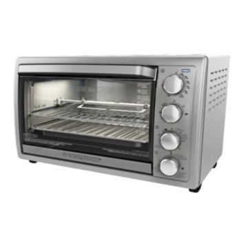 Black Amp Decker Rotisserie Convection Toaster Oven
