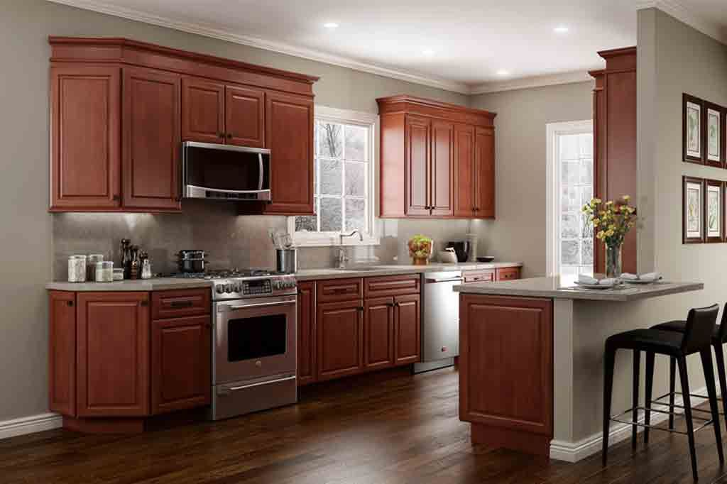 The Best Wall Colors To Update Stained Cabinets | Stained ...