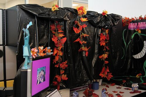 Decorated Cubicles for Halloween season! #decoratedcubicles ALL