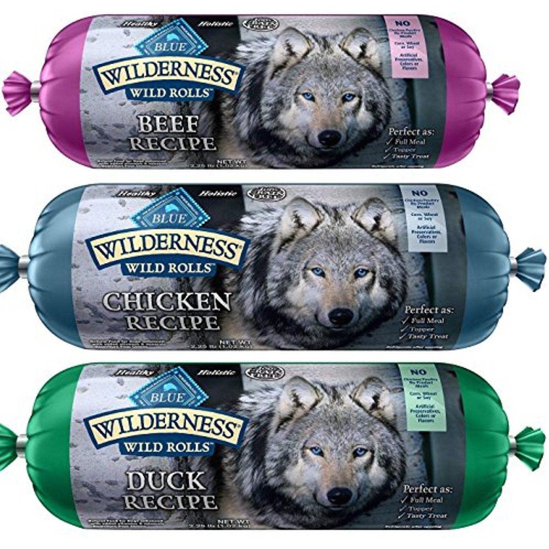Blue Wilderness Wet Dog Food Rolls Natural Healthy Holisitc Grain