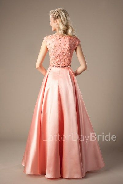8b6c0cc6224d modest-prom-dresses-afton-coral-back-2 | Cute, Modest, and Classy ...