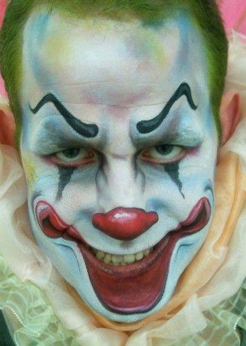 evil clown bodyfx face painting adult art pinterest. Black Bedroom Furniture Sets. Home Design Ideas
