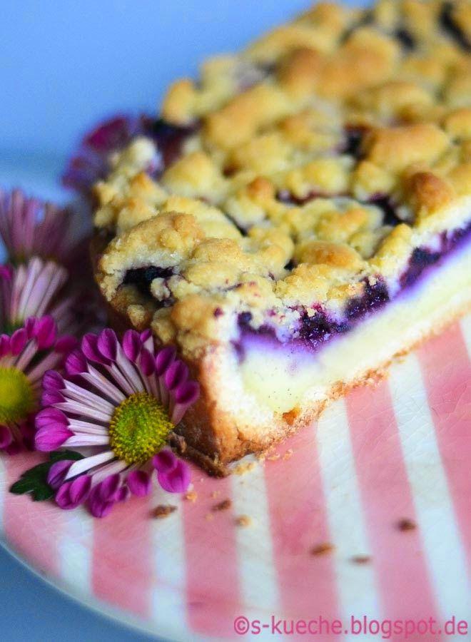 Streuselkuchen Mit Pudding Gefullt Wie Fruher Rezept Kuchen