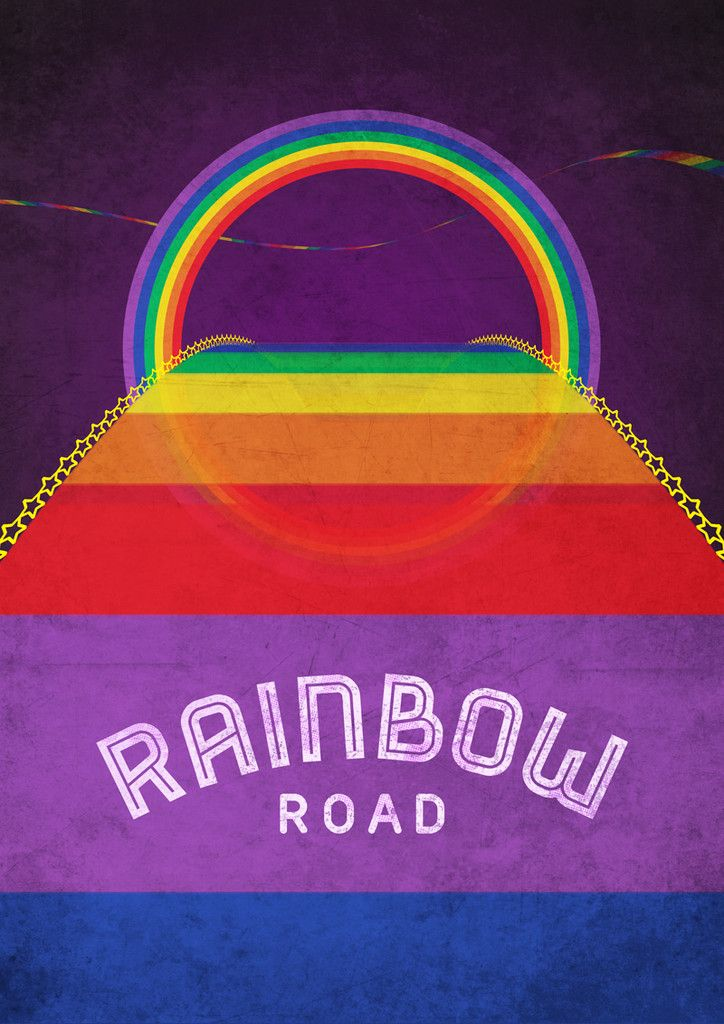 Rainbow Road Inspired By Mario Kart 64 Limited Edition