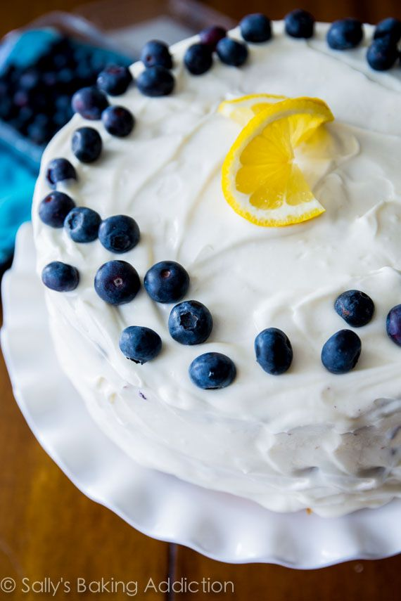 Lemon Blueberry Layer Cake Sallys Baking Addiction desserts