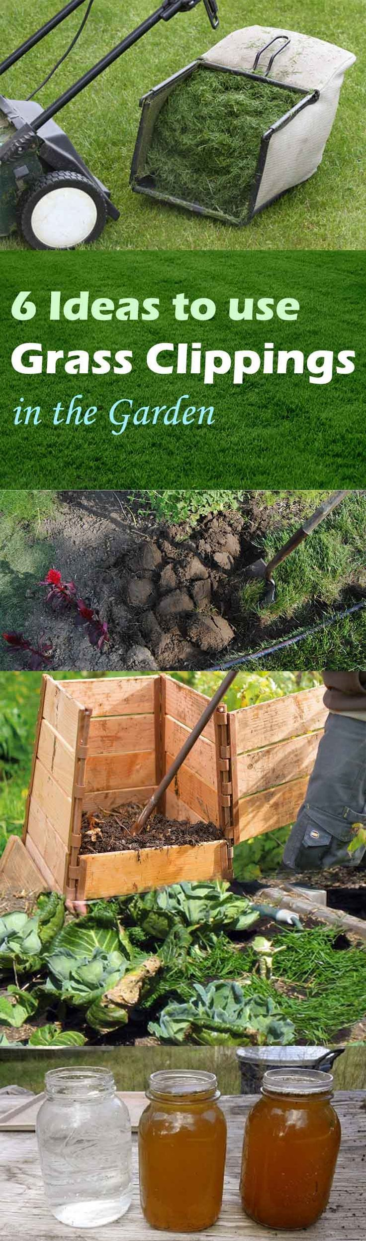 how to make mulch from grass clippings