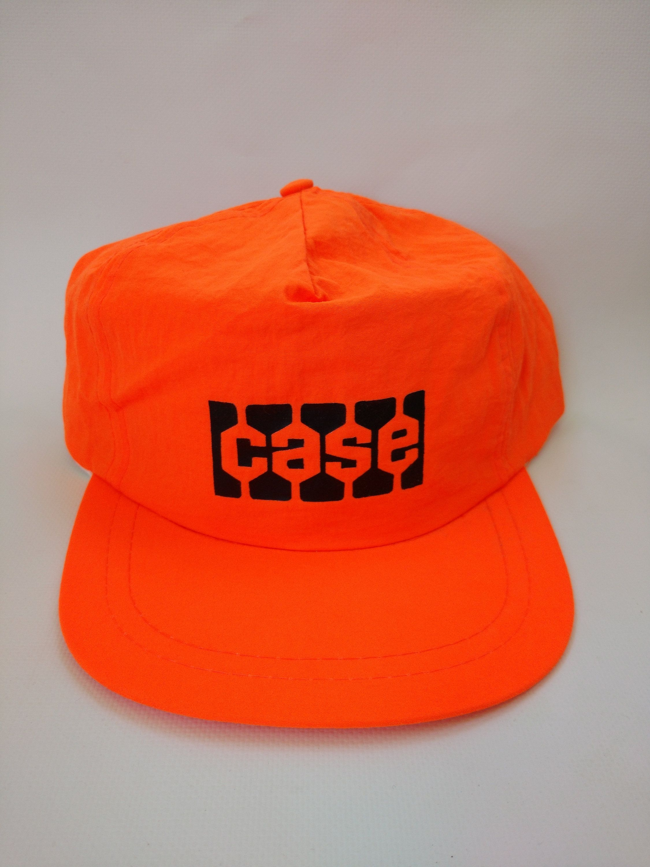 634a84967b1 Vintage Case Construction Neon Orange Retro 1980s Hat Lightweight Nylon  Fabric Snapback Bulldozer Excavator Machine Company Advertising by  RockabillyPinUps ...