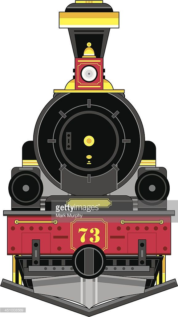 Vector Illustration Of A Cartoon Train Engine In A Wild West Style Train Drawing Train Illustration Train Clipart