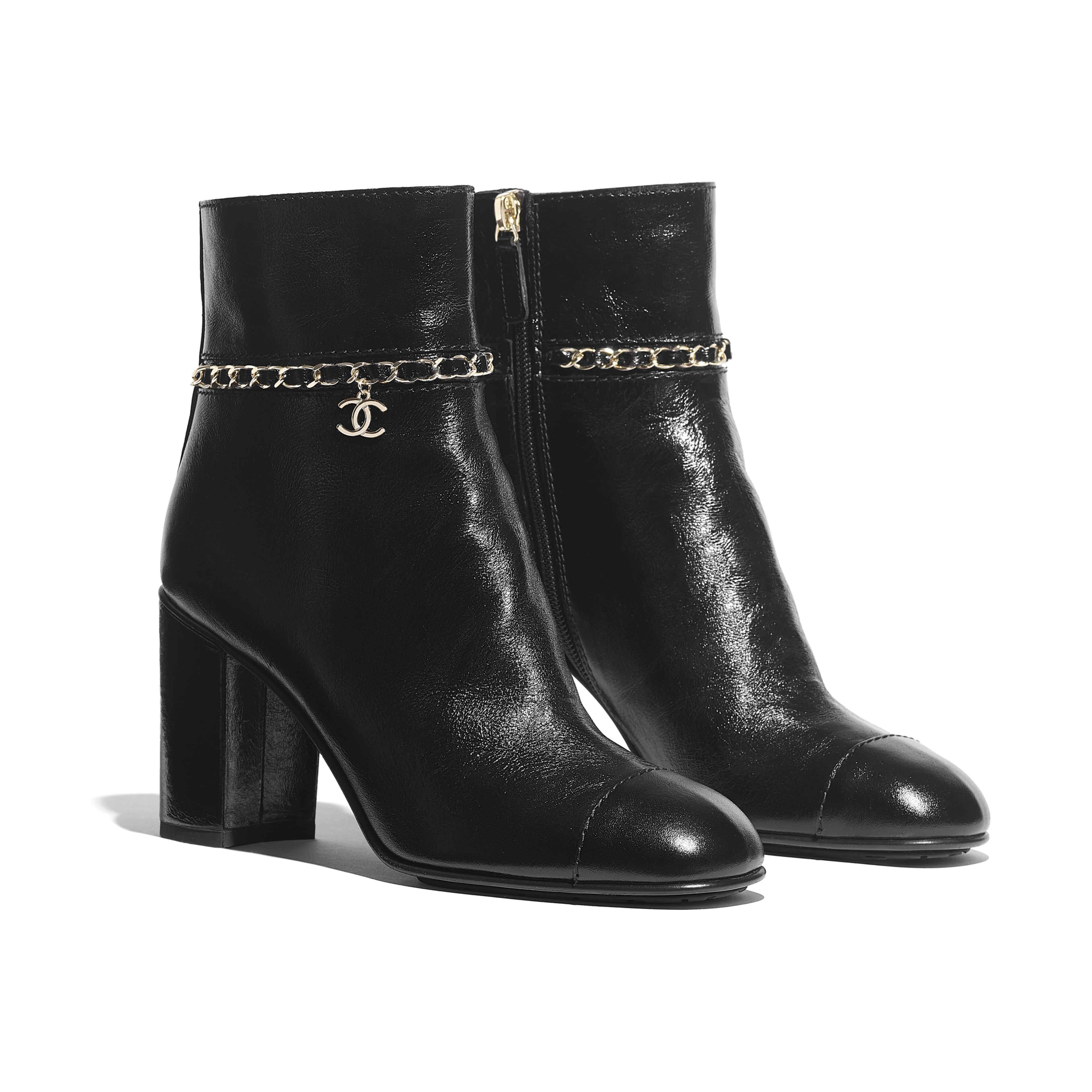 Chanel boots, Boots, Black ankle boots